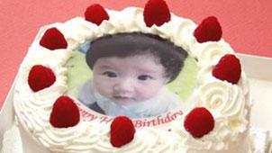 写真をケーキに入れられる!世界にひとつケーキ