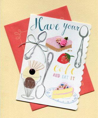 Meri Meriの誕生日カード デザートとシルバースプーン オススメのメッセージカード オススメの誕生日メッセージカード
