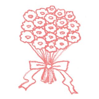 花束のイラスト | 無料で使える ... : 出産 無料プレゼント : 無料