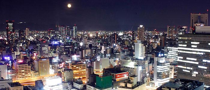 ホテルグランヴィア大阪から見える夜景写真