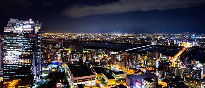 インターコンチネンタルホテル大阪から見える夜景写真