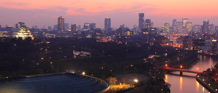 ホテルニューオータニ大阪/大阪城が見える夜景写真