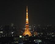 東京タワーを一望