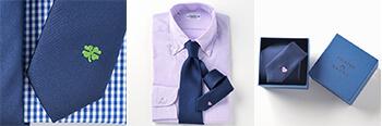 ハートの刺繍入りネクタイ