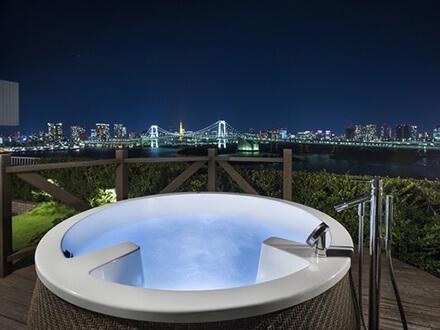 ヒルトン東京お台場 ホテル日航東京 夜景