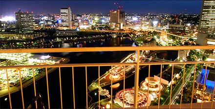 パンパシフィック 横浜ベイホテル東急 夜景