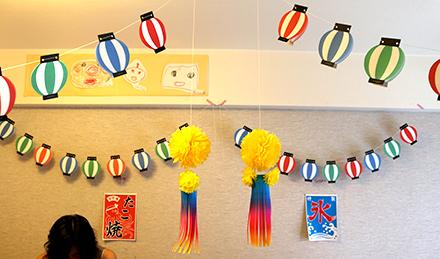 夏祭り風パーティー演出に ... : 七夕飾り ちょうちん : 七夕