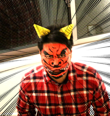 本当に怖い鬼のお面マスキングテープで作る鬼の面の作り方節分