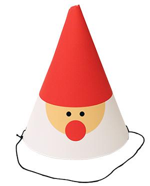 クリスマス向けのパーティーハット サンタの帽子 DIY 手作り帽子 無料素材