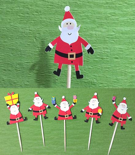 可愛い5種類のサンタクロース★クリスマス用パーティーピック