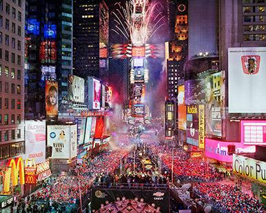 欧米のお正月 ニューヨークのカウントダウン
