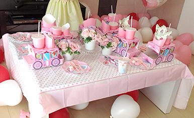 ピンクカラーをテーマにしたパーティーイメージ