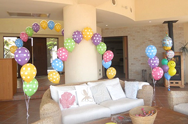 お部屋の飾り付け デコレーションイメージ キッズパーティー 子供のお誕生会