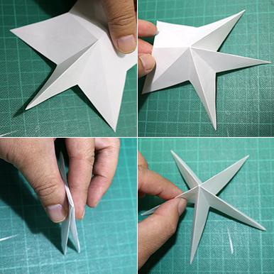 立体的な星形オーナメントの作り方