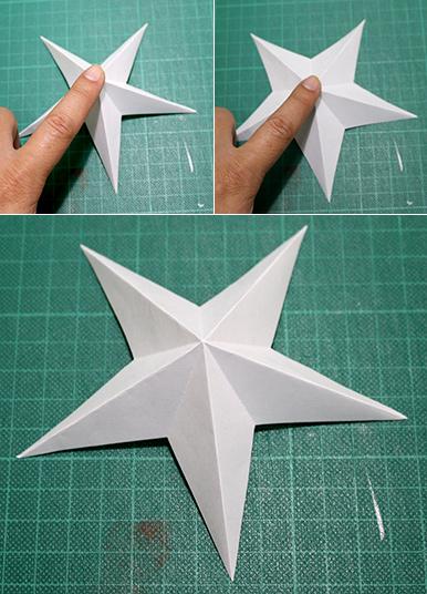 簡単 折り紙 折り紙星折り方立体 : divulgando.net
