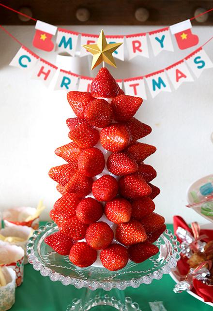 「MERRY CHRISTMAS」の文字のクリスマスミニガーランド