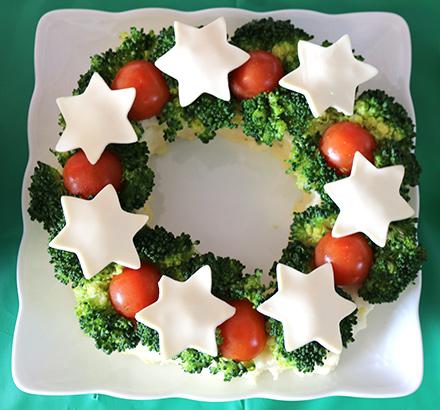 クリスマスリース風ポテトサラダ