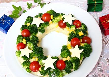 クリスマスリース クリスマスパーティーのアイデア料理