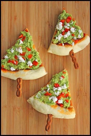 クリスマスツリーのピザスティック クリスマスパーティーのアイデア料理