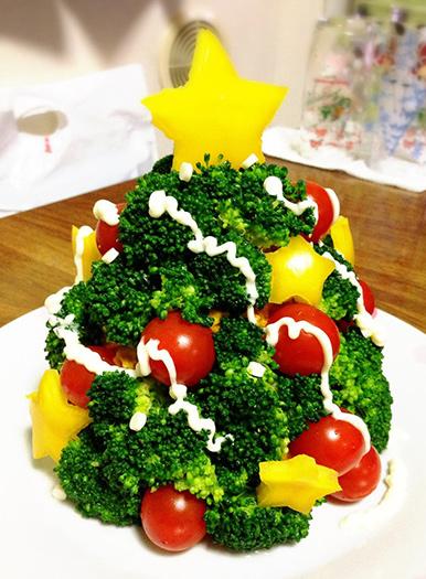 クリスマスツリー☆サラダ クリスマスパーティーのアイデア料理