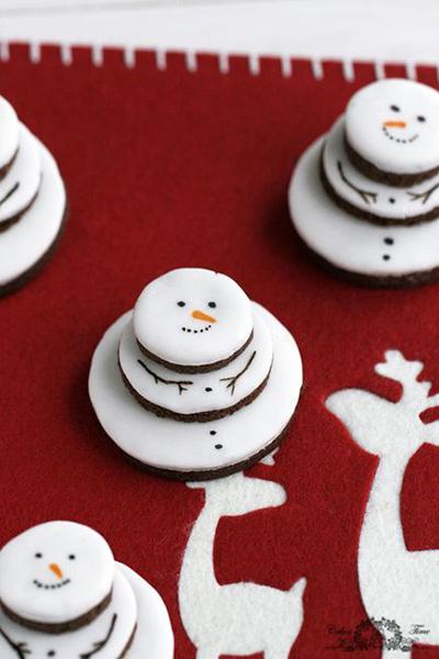 スノーマンクッキー クリスマスパーティーのアイデア料理