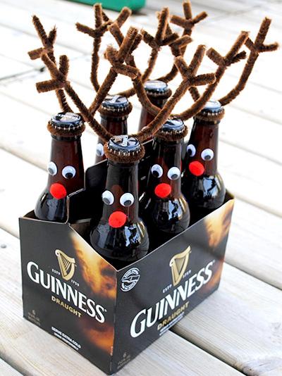 トナカイのビール瓶 クリスマスパーティーのアイデア料理