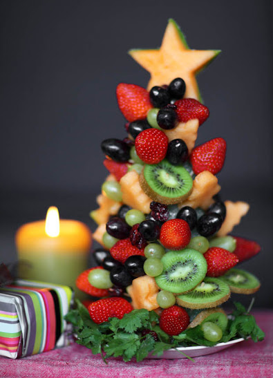 フルーツのクリスマスツリー クリスマスパーティーのアイデア料理
