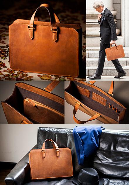 ナポレオンカーフ ビジネスボナパルト イタリア最高級革ビジネスバッグ お父さんプレゼント お父さんプレゼント