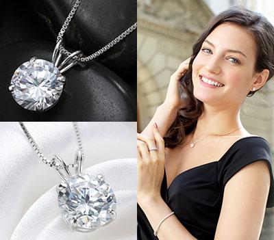 最高級品質 1.25カラットダイヤモンドネックレス お母さんが喜ぶプレゼント
