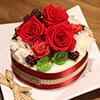 誕生日にぴったりな日比谷花壇のフラワーギフト「フラワーケーキ」