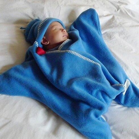 星型アフガン Star Wrap 星の形をした赤ちゃん用のおくるみ 出産祝いプレゼント