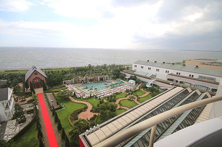 シェラトン・グランデ・トーキョーベイ・ホテル 8階 トレジャーズルーム 景色