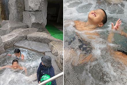 岩風呂のようなジャグジー