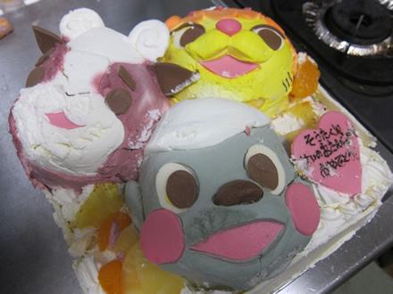 「ポコポッテイト」の立体キャラケーキをオリジナルケーキで人気の楽天ショップで発注してみた!