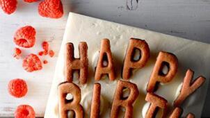 オシャレなバースデーケーキ?デザインが可愛い大人向け誕生日ケーキ