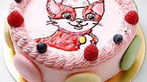 キャラクターイラストケーキ?好きなキャラクターをケーキに描いてくれます!