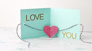 手作りバレンタインカード~ネットで見つけた素敵なアイデア