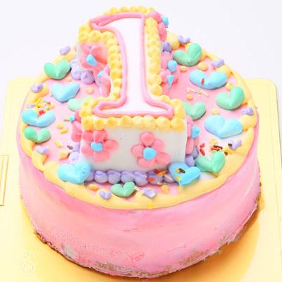 立体数字のポップなナンバーケーキ