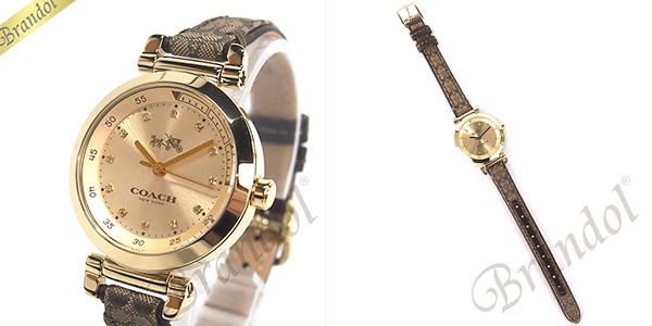 コーチ COACH 時計 レディース 腕時計 1941 スポーツ シグネチャーキャンバス 30mm ゴールド×ブラウン