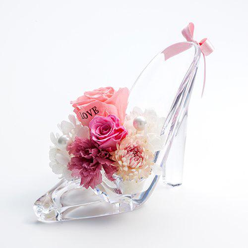 シンデレラの靴のメッセージローズ<ピンク>