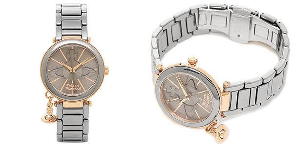 ヴィヴィアンウエストウッド 時計 VIVIENNE WESTWOOD VV067SLTI ケンジントン レディース腕時計ウォッチ ガンメタ/ローズゴールド