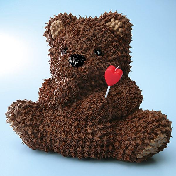 定番人気のクマの立体ケーキ「マイルストーン ベアー」