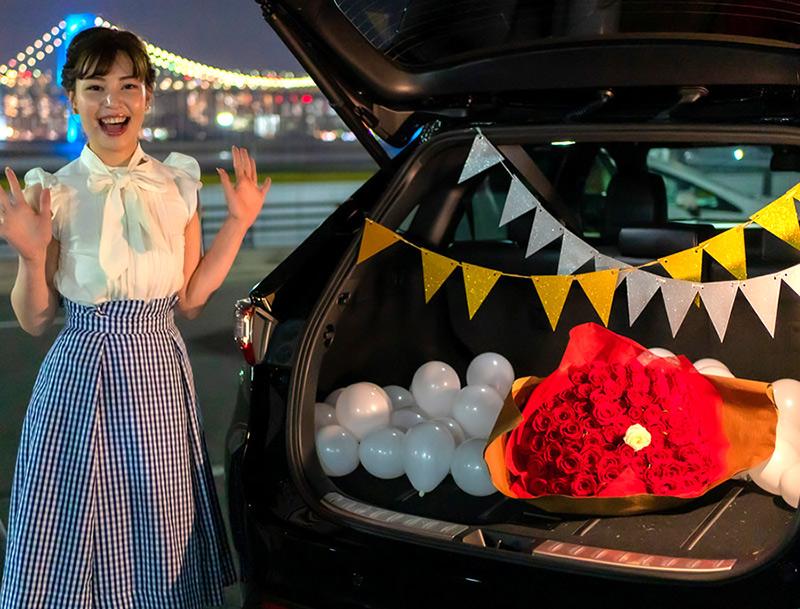 車サプライズ演出におすすめの花束+装飾セット