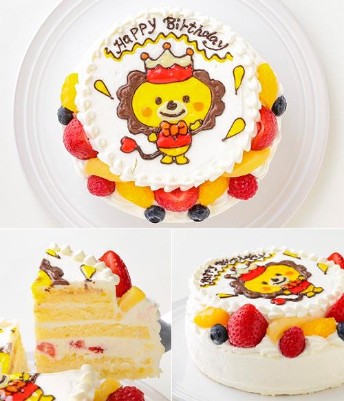 フルーツたっぷり!キャラクターイラストケーキ「イラスト生クリームデコ」