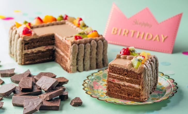 チョコレート味の写真ケーキ ピクトケーキ