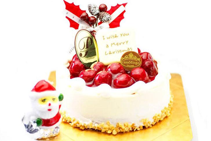 洋菓子店カサミンゴーのクリスマスケーキ