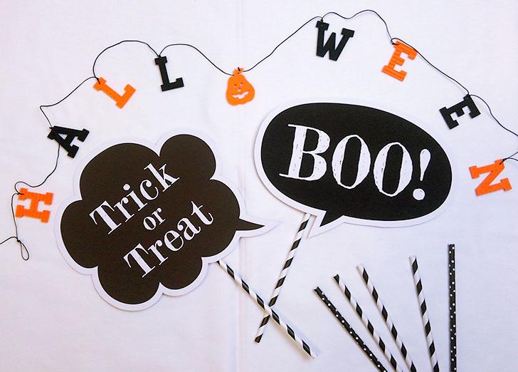 ハロウィン-フォトプロップス-Trick or Treat,BOO!