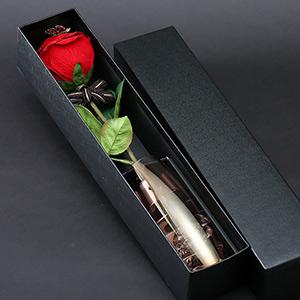メッセージフラワー赤バラ(名前刺繍入り)プロポーズギフト