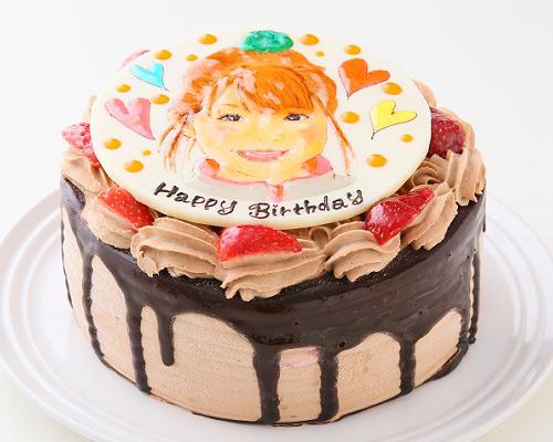 似顔絵ケーキ チョコレート