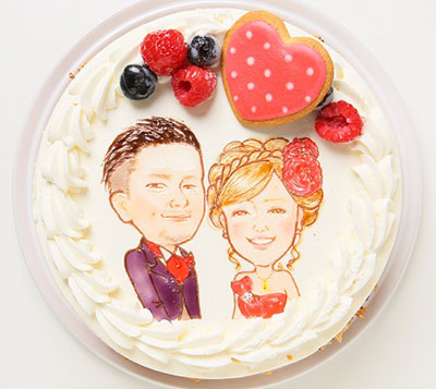 似顔絵ケーキ レアチーズケーキ